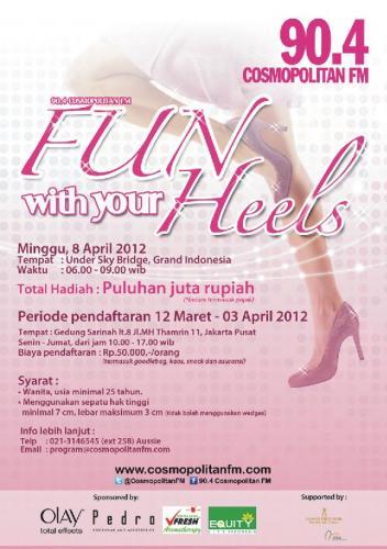 Acara Fun With Your Heels Cosmopolitan FM dan Equity Life Indonesia