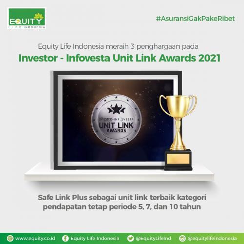 Equity Life Indonesia Kembali Raih 3 Penghargaan pada Investor-Infovesta Unit Link Awards 2021