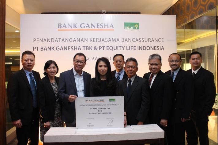 Equity Life Indonesia Gandeng Bank Ganesha pasarkan produk asuransi bancassurance