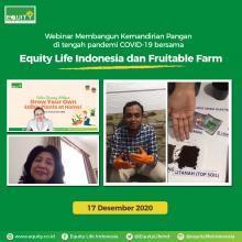 Equity Life Indonesia Gelar Webinar Kemandirian Pangan